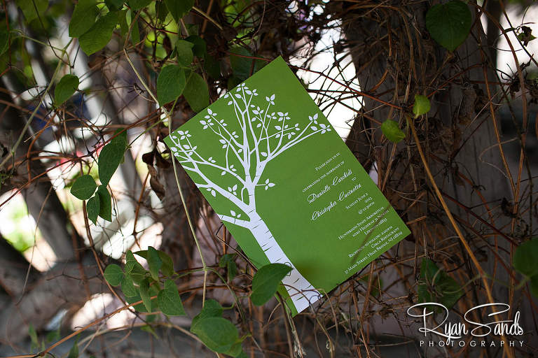 Hunterdon County Arboretum Wedding - A cute detail photo of Danielle & Chris's wedding invitation.