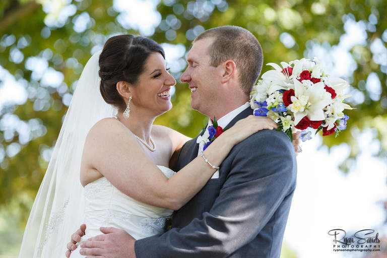 Forsgate Country Club Wedding - Lisa & Rob's first look was amazing. He cried the moment he saw his bride.