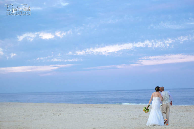 new jersey beach bridal portrait of the happy couple