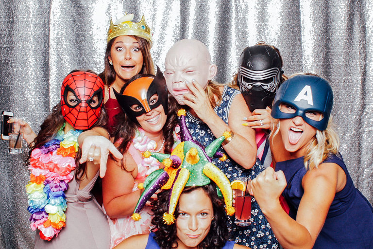 Jersey Shore Wedding Day Photo Booth